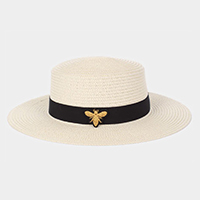 Honey Bee Iron Patch Paper Straw Sun Hat