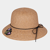 Honey Bee Patch Paper Straw Sun Hat