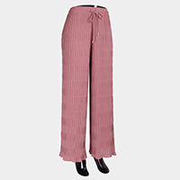 Elastic Wide Pleated Waistband Pants