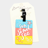 Sun Sand Sea _ Bon Voyage Rubber Luggage Tag