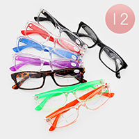 12PCS - Rectangle Frame Optical Glasses