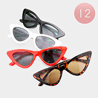 12PCS - Triangle Frame Sunglasses
