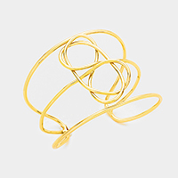 Knot Metal Cage Cuff Bracelet