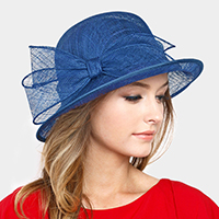 Adjustable Medium Bow Medium Sinamay Hat
