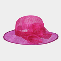 Flower Centered Medium Two Tone Sinamay Hat