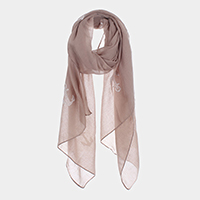 Anchor Sheer Mesh Oblong Scarf