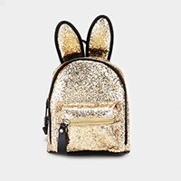 Sequin Cute Bunny Ears Mini Backpack Bag