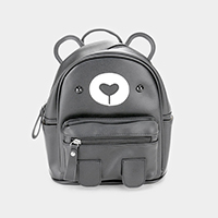 Faux Leather Cute Bear Kids Mini Backpack Bag