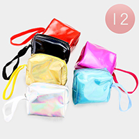 12PCS - Hologram Mini Pouch Bags