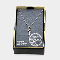 Swarovski Crystal Key Pendant Necklace