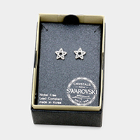Swarovski Crystal Star Stud Earrings