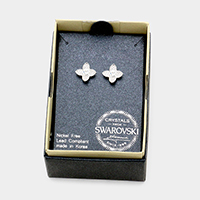 Swarovski Crystal Bloom Flower Stud Earrings