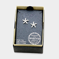 Swarovski Crystal Starfish Stud Earrings