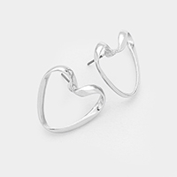 Heart Metal Earrings