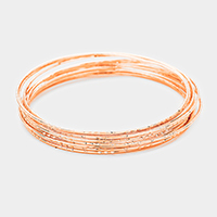 10Layers Textured Metal Bangle Bracelets