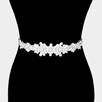 Felt Back Floral Sash Ribbon Bridal Wedding Belt