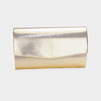 Solid Metallic Clutch Bag