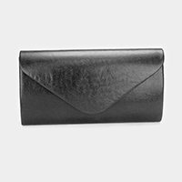 Solid Metallic Envelope Clutch Bag
