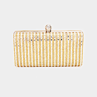Pave Crystal Rhinestone Evening Clutch Bag
