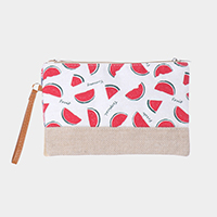 Watermelon Pattern Print Pouch Bag