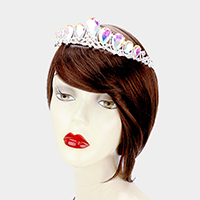 Crystal Glass Teardrop Cluster Princess Tiara