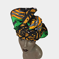 African Wax Fabric Head Wrap