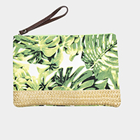 Tropical Leaf Pouch Bag