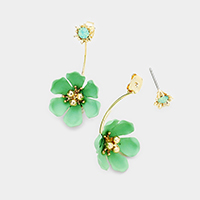 Bloom Flower Double Sided Earrings