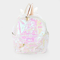 Sequin Unicorn Backpack Bag