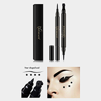 Liquid Eyeliner Pencil with Star Shaped Seal Stamp