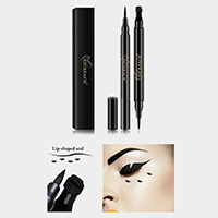 Liquid Eyeliner Pencil with Lip Shaped Seal Stamp