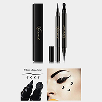 Liquid Eyeliner Pencil with Moon Shaped Seal Stamp