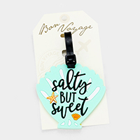 Salty But Sweet _ Shell Shaped Bon Voyage Rubber Luggage Tag