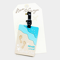 Sandy Feel _ Bon Voyage Rubber Luggage Tag