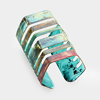 Cut Out Cage Metal Wide Cuff Bracelet
