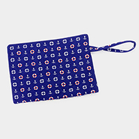 Anchor Pattern Beach Wrist Clutch Bag