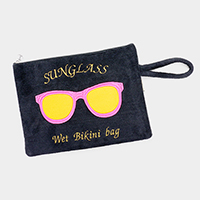 Sunglass Wet Bikini Beach Wrist Clutch Bag