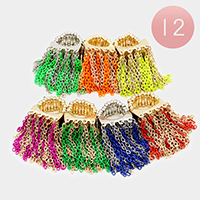 12PCS - Chain Fringe Stretch Rings