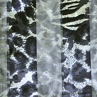 Satin Striped Animal Print Scarf