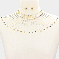 Metal Fringe Armor Collar Choker Necklace
