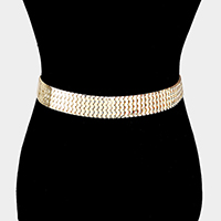 Wide Metal Chain Belt