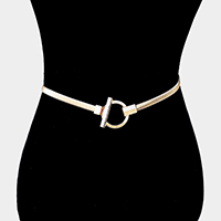 Metal Hoop Accented Stretch Belt