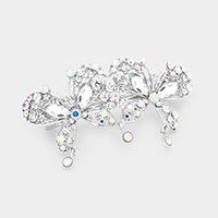 Pave Double Butterfly Barrette