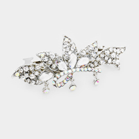Bubble Stone Cluster Leaf Barrette