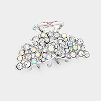 Bubble Stone Cluster Pave Star Accented Hair Claw Clip