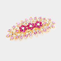 Bubble Stone Pave Triple Flower Barrette