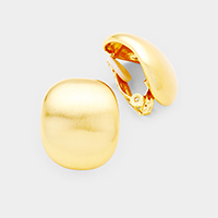 Curved Metal Clip on Earrings