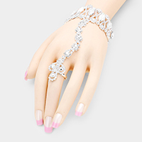 Marquise Crystal Hand Chain Bracelet