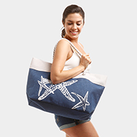 Seashell Starfish Beach Bag