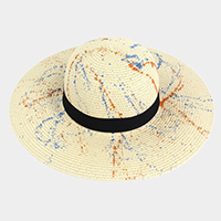 Paint Splash Straw Floppy Hat